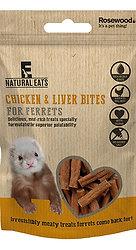Rosewood Natural Eats Chicken & Liver Ferret Bites 50g