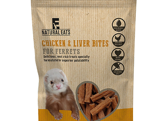 Rosewood Natural Eats Chicken & Liver Ferret Bites 50g