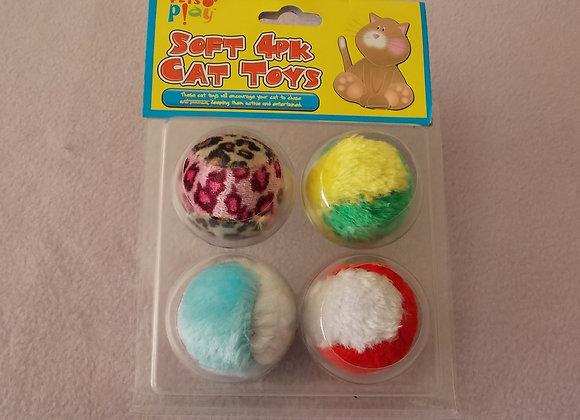 4 x Fluffy Play Balls.