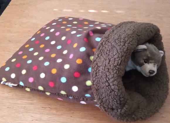 Padded Sleeper Sack, Sepia Polka.