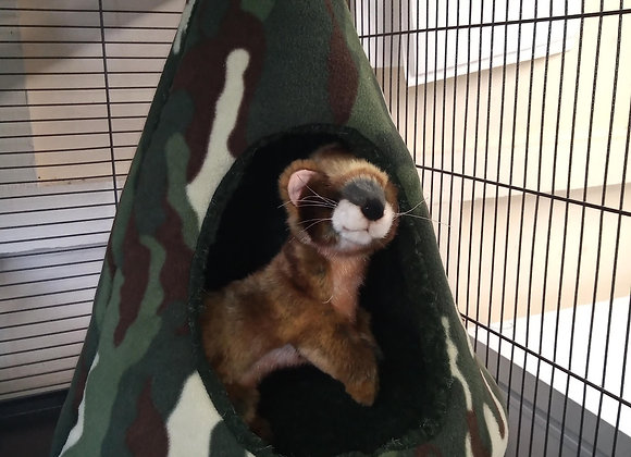 Padded Ferret Fun TeePee, Forest Camo.