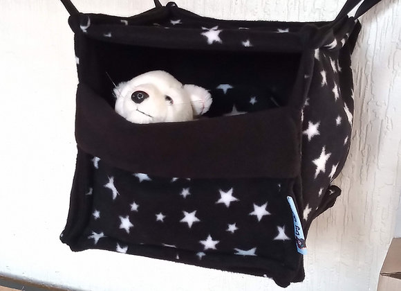 Cosy Cube + Blanket, Black Stars.