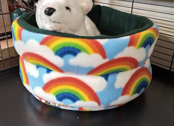 Padded Snuggly Bed, Rainbows.