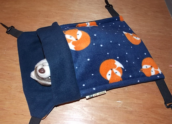 Small Snuggle Sack, Sleepy Fox / Navy