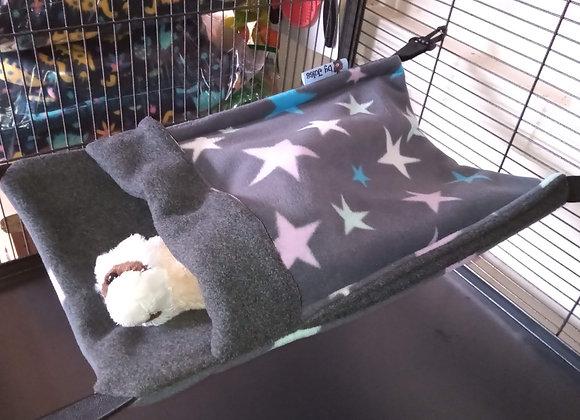 Small Snuggle Sack, Grey Multi Stars.