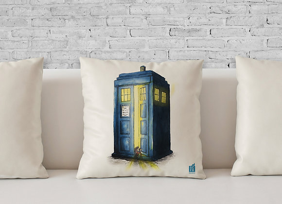 "Dr Who Ferret, 18"" Cushion Cover + Pad."