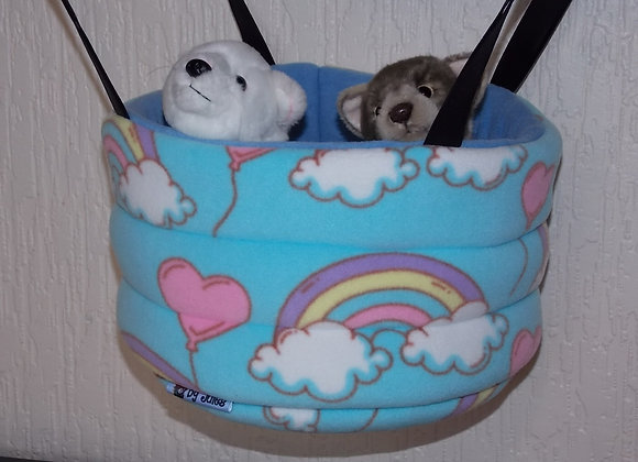 Padded High Snuggly Bed, Love Rainbows