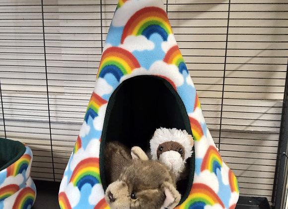 Padded Ferret Fun TeePee, Rainbows.