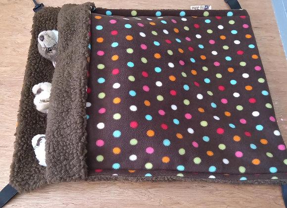 Giant Snuggle Sack, Sepia Polka.