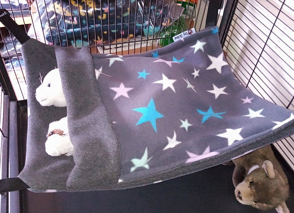 Large Snuggle Sack, Grey Multi Stars.
