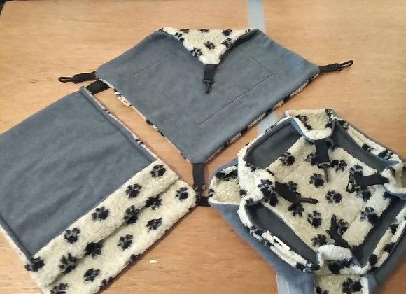 3 Piece Set, Gray / Cashmere Paws.