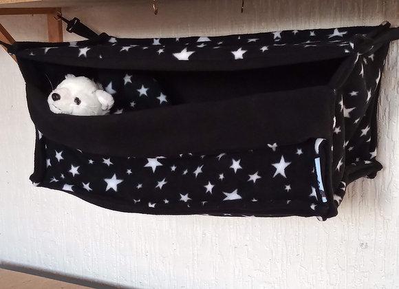 Giant Cosy Cube + Blanket, Black Stars.