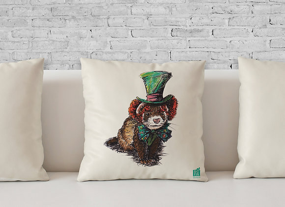 "Mad Hatter Ferret, 18"" Cushion and Pad"
