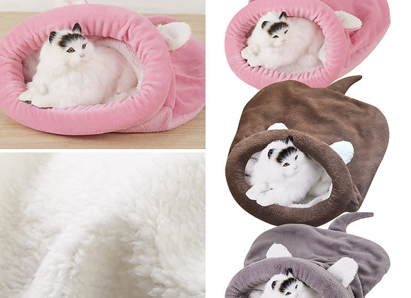 Soft,Cuddle Fleece Mouse Bed, Grey or Coffee coloured