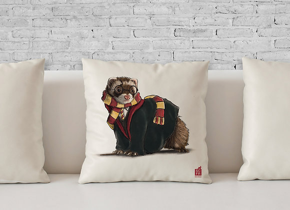 "Harry Potter Ferret, 18"" Cushion Cover + Pad."