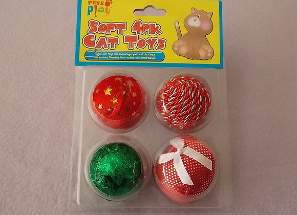 Christmas 4 pack Balls.
