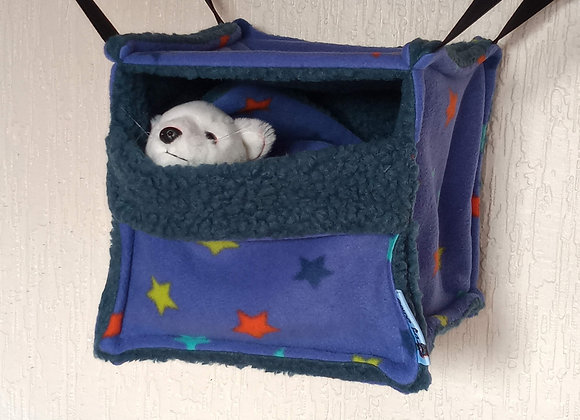Cosy Cube + Blanket, Blue-Violet Stars.