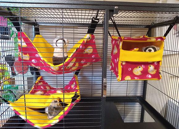 3 Piece Cage Set, Ducklings