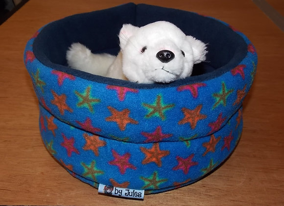Padded Snuggly Bed, Starfish / Blue