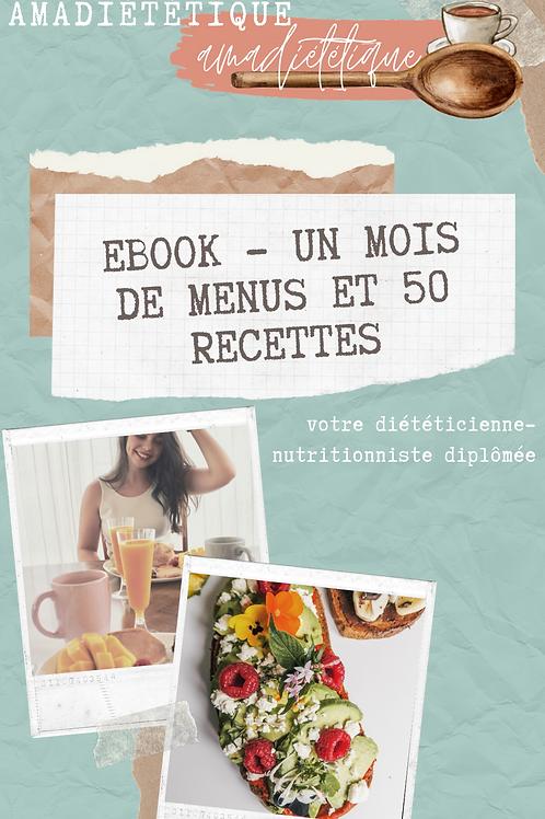EBOOK 1 mois de menus et 50 recettes