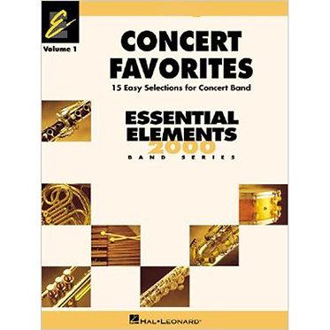合奏曲集 Concert Favorites Vol. 1 – 降B調次中音薩克斯風管