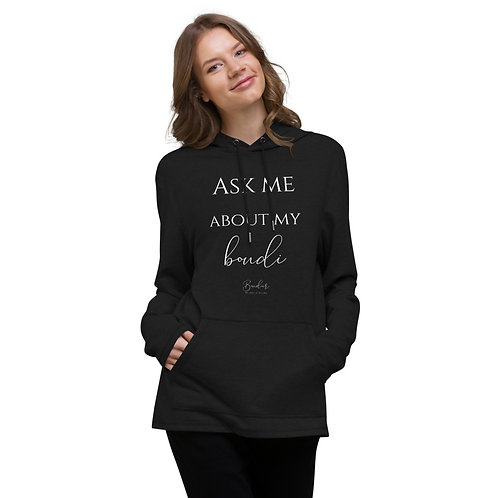Ask Me About My Boudi Words Only Unisex Lightweight Hoodie