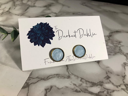 Light Blue Genuine Leather Studs