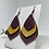 Thumbnail: Purple, Mustard, & Mahogany Fall Color Faux Leather Earrings
