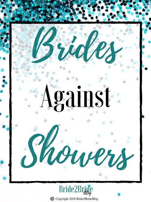 Brides Against Showers: PDF Printable Bridal Shower Bachelorette Party Game