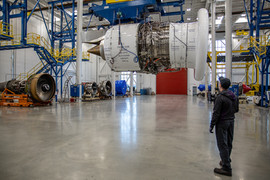 Trent XWB in Pre-Test Bay