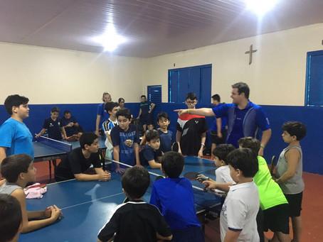 Jorge Fanck realiza Clínica de Tênis de Mesa em Palmas-TO