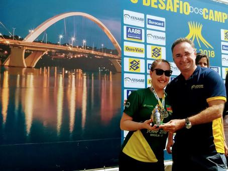 Bruna dos Santos é medalhista do JENAF - 2018