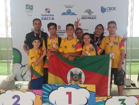 Atletas gaúchos conquistam várias medalhas nas Paralimpíadas Escolares