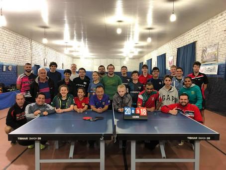 Clínica Fanck-Rieff de tênis de mesa faz sucesso!
