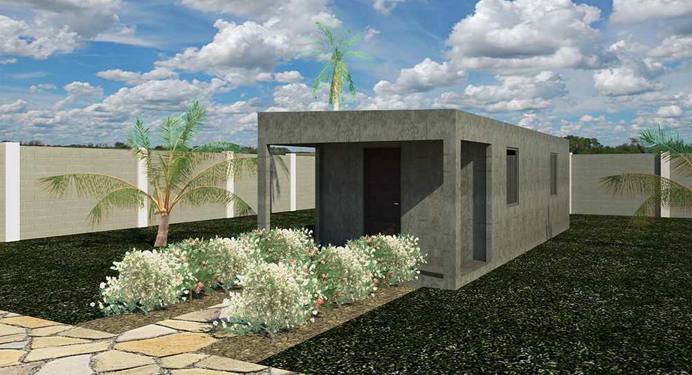 Rendering of Completed Home (Roof 2)