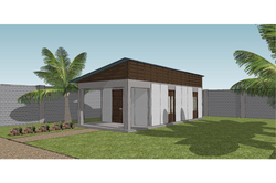 Rendering of Completed 2 Room Home