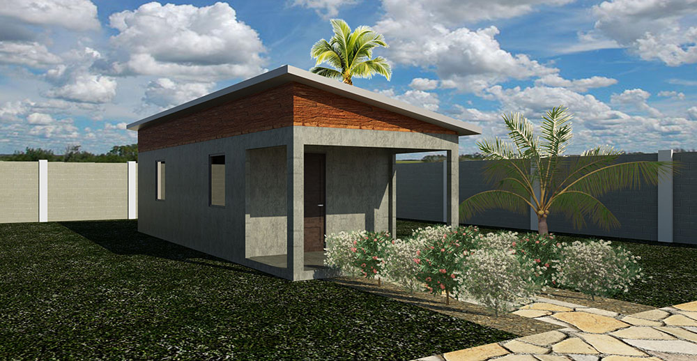 Rendering of Completed Home (Roof 1)
