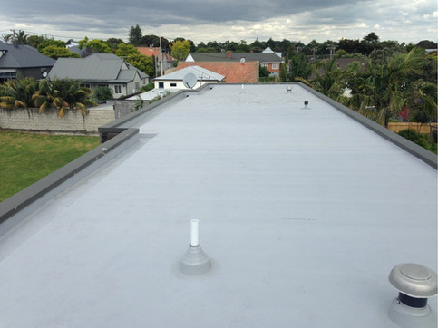 Grey TPO membrane roof