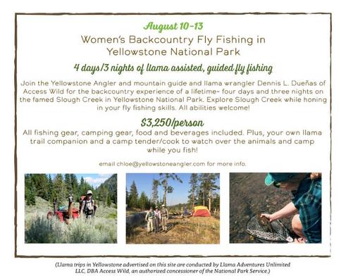 Women's Fly Fishing Trip Yellowstone Park
