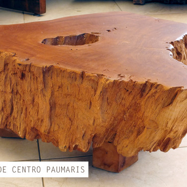 Mesa de centro madeira maciça Paumaris