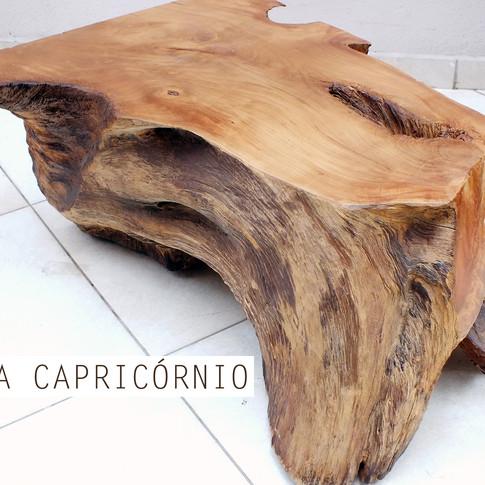 Mesa de centro madeira maciça Capricórnio