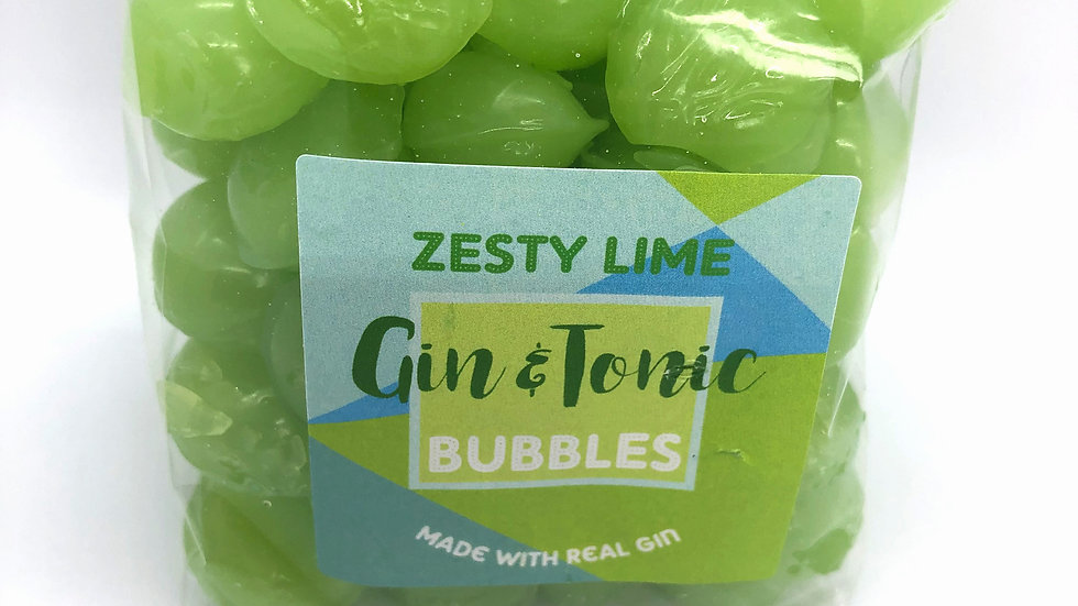 Holly's Lollies Gin & Tonic Bubbles - Zesty Lime
