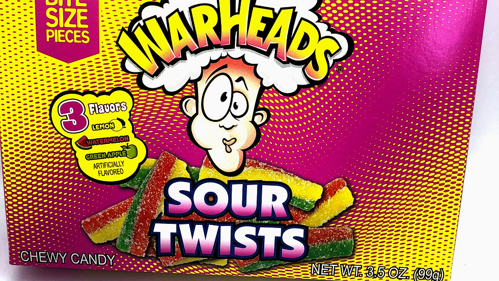 Warheads - Sour Twists Theatre Box 99g