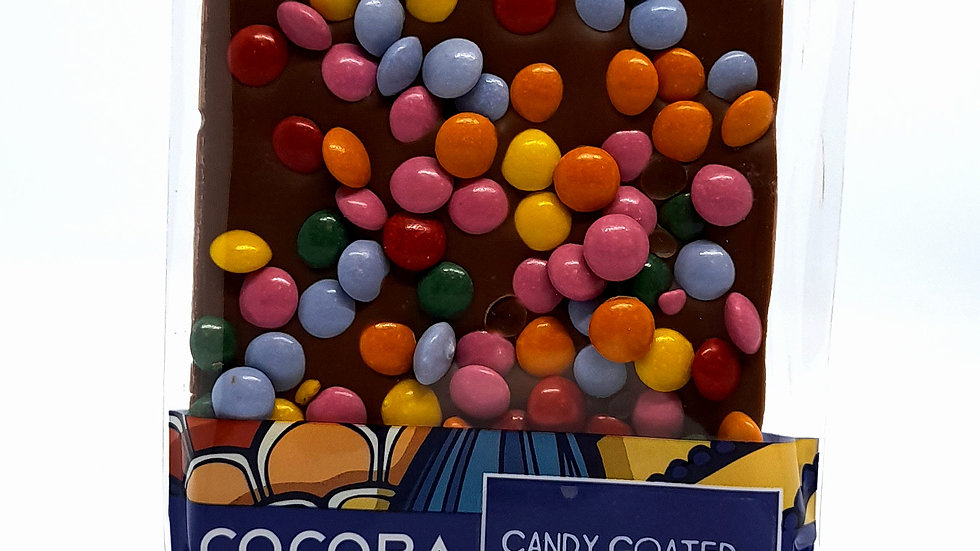 Cocoba Candy Coated Milk Chocolate Bar 100g