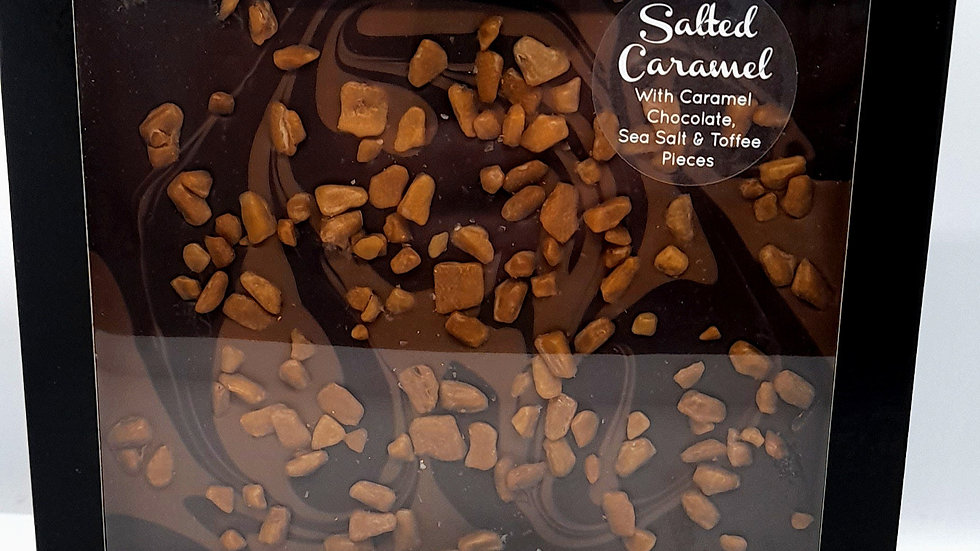 Cambridge Confectionary - Salted Caramel Chocolate Tile 250g