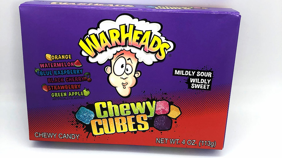 Warheads Chewy Cubes Theatre Box 113g