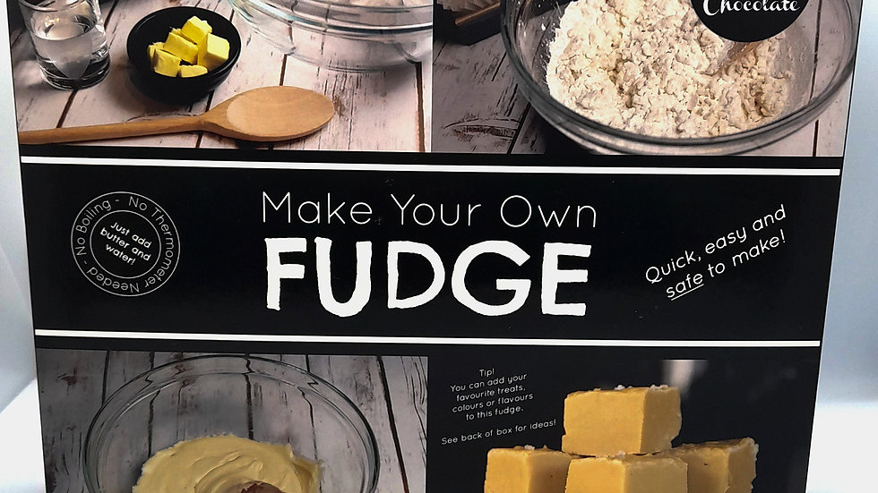 Cambridge Confectionary Make Your Own Fudge Kit -Vanilla & Chocolate