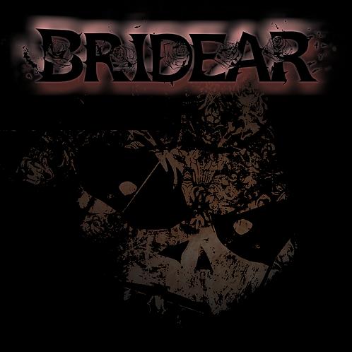 """BRIDEAR - """"Into the Dark..."""" 8cm sq sticker"""