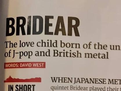 BRIDEAR in METAL HAMMER magazine