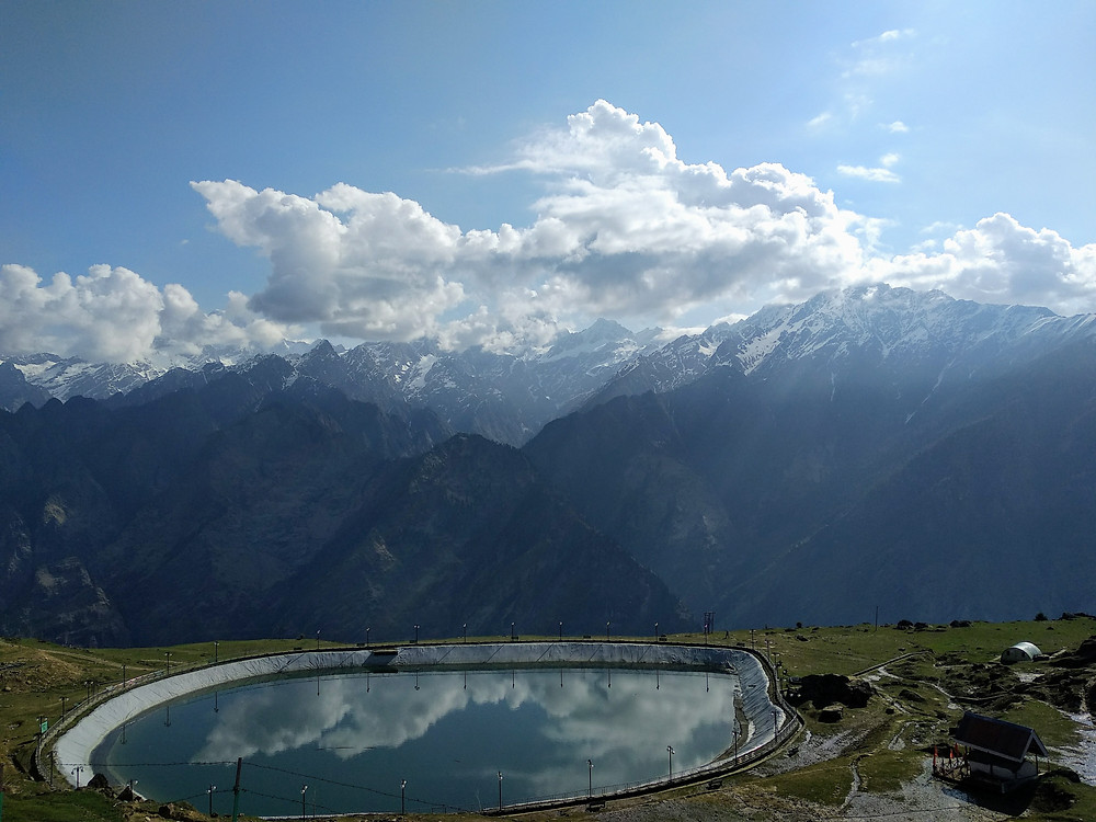 view of mountains around Chenab lake